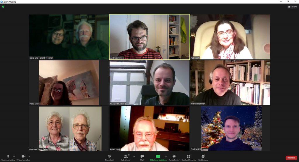 Foto Vorstandstreffen als Videokonferenz